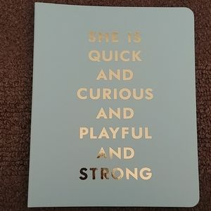 Kate Spade acqua spiral lined notebook